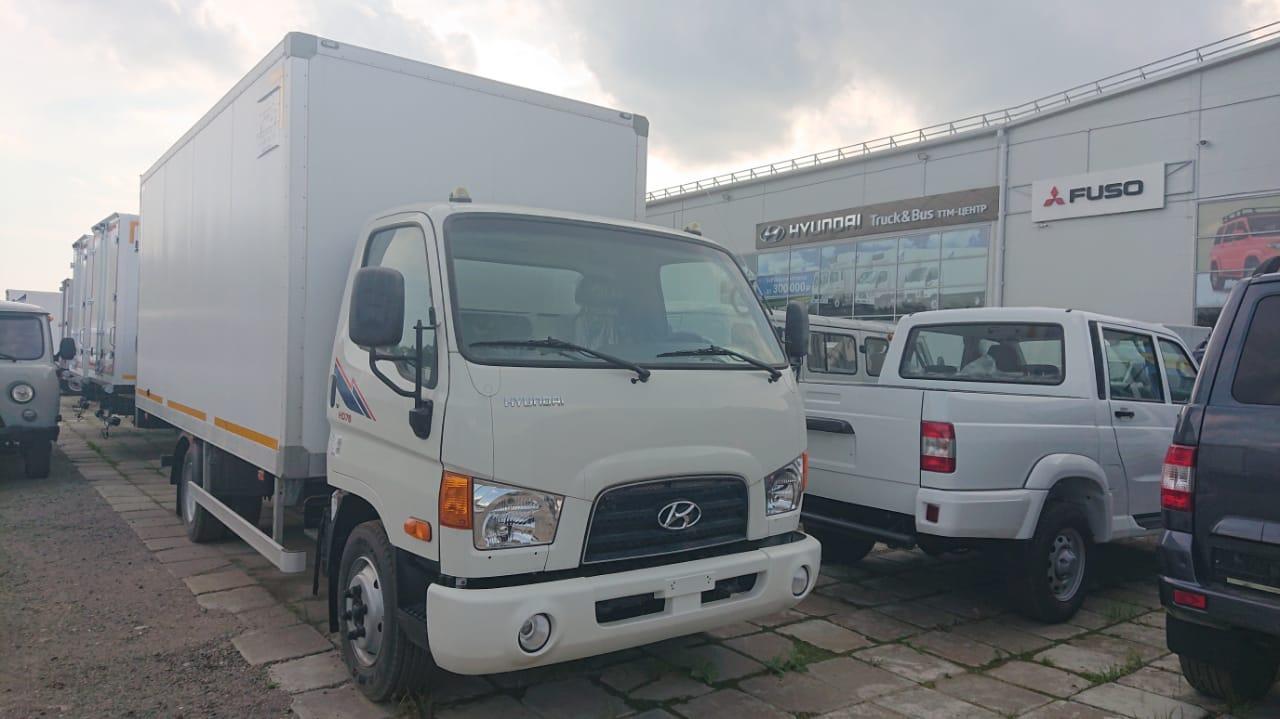 Hyundai HD 78 с сэндвич-фургоном АМЗ