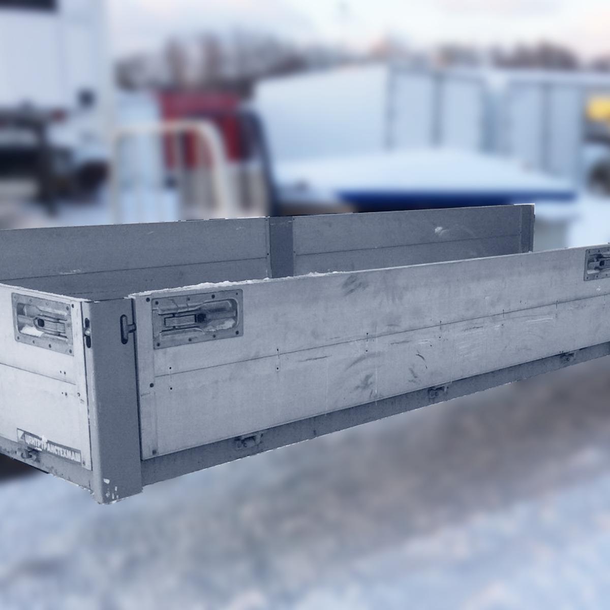 Бортовая алюмниевая платформа 4,9х2,2х0,4м