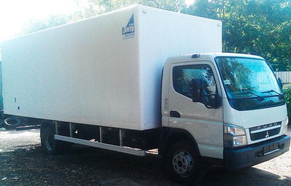 а/м FUSO Canter с промтоварным фургоном 6200х2200х2200