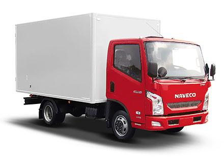 NAVECO c-300 с промтоварным фургоном.